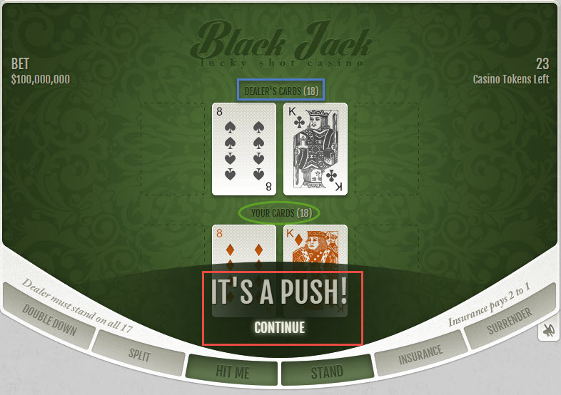 Push in blackjack who wins station casino santa fe